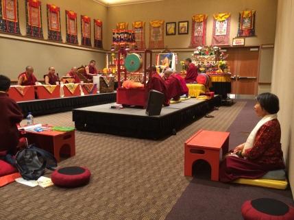 Dorje Palmo in Prayer Hall