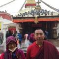 6. 多傑吉祥母與喇嘛拉悉在布達難佛塔