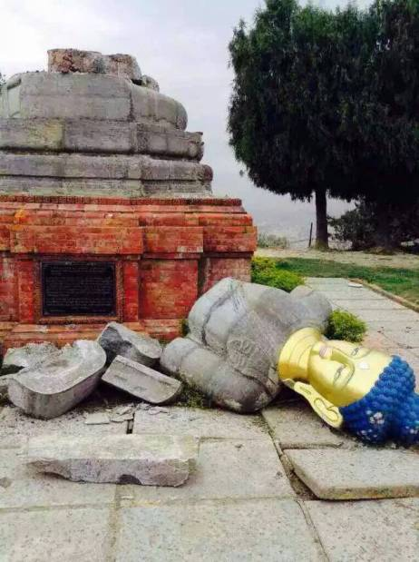 Toppled Statue