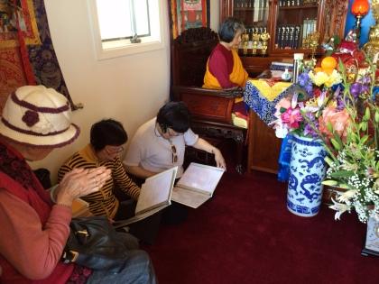 Chanting Inside Stupa