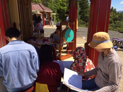 Chanting Outside Stupa