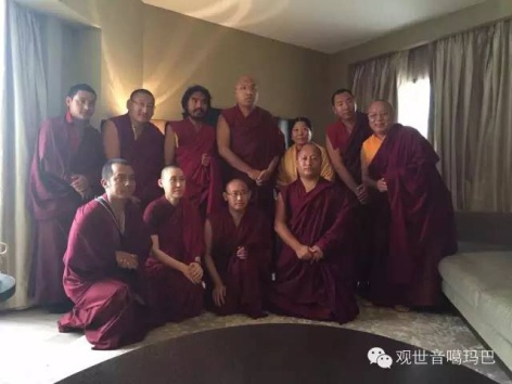 Rinpoche and Lamas visiting Karmapa
