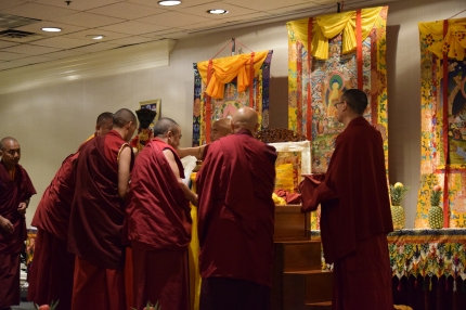 Lamas with Rinpoche