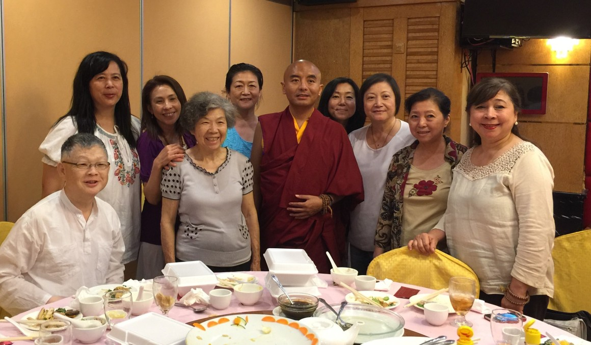 Rinpoche at Lunch with Members