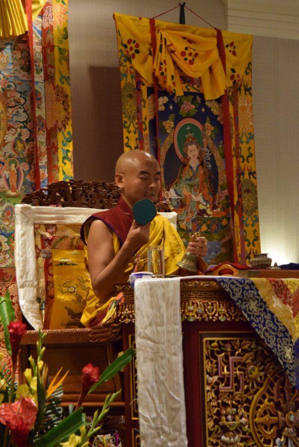 Rinpoche Bestowing Empowerment