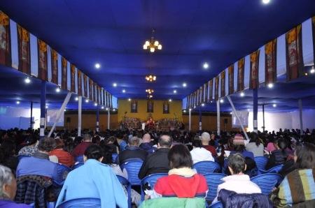 29 Teaching at Tergar Olsel Ling (Rear View)