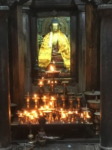 40 Butter Lamps in front of Alter at Mahabuddha Temple