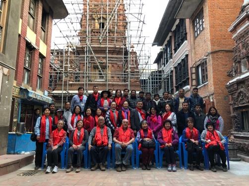 44 Group Photo at Mahabuddha Temple