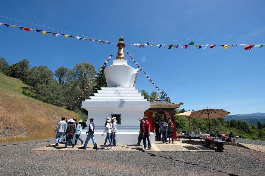 Circumambulating Stupa