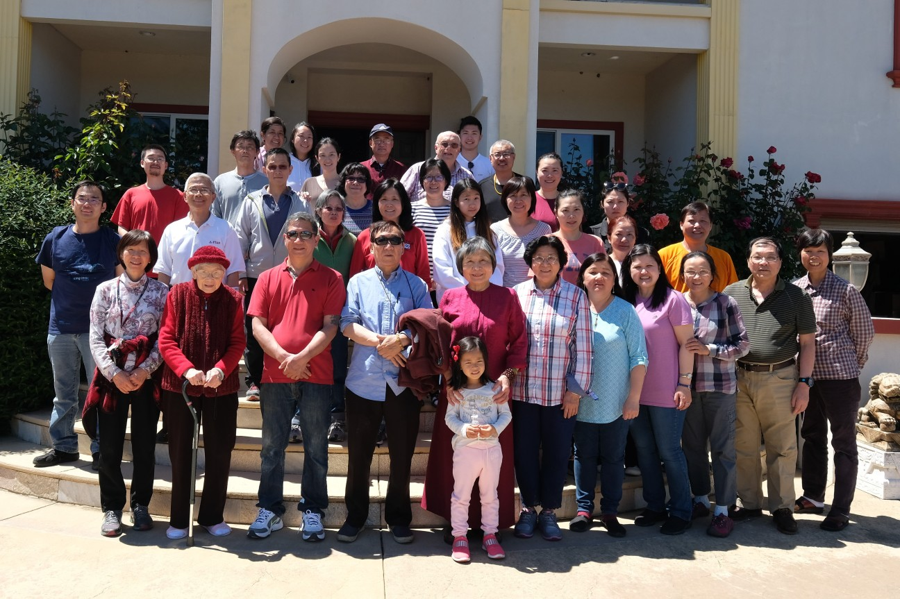 Gathering for Stupa Anniversary