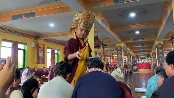 Blessing by Rinpoche