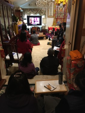 Watching Rinpoche Video